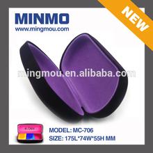 2014 hot selling Mingmou claret purple elegance sunglasses case,soft feel velvet fabric metal sunglasses case for women