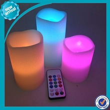 led colorful candle/ 18keys remote to control