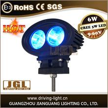 Made in China 9~60v 6W super brightness led work light blue light for heavy duty machine