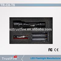 Trustfire C8-T6 led flashlight led light 18650 battery lamp tactical torch hot selling led flashlight