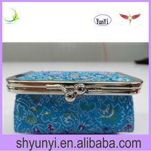 fashion girls clutch purse with metal frame