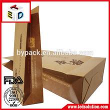 Factory manufacture brown kraft paper bag