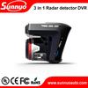 good price 3 in 1 Radar detector +gps+ dvr g-sensor car dvr gps radar detector