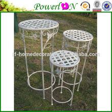 Popular Antique Wrough Iron S/3 Round Planter Stand Garden Ornament For Decking Backyard J08M TS05 G00 X00 PL08-5611