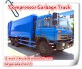 Transparentes con desperdicios de compactorhydraulic levantador de contenedores de basura camión, Grande de basura compactador