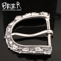 BEIER the latest 925 sterling silver evil skull belt buckles for personality men popular L0030