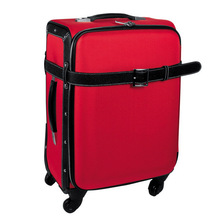 eminent polyester & PU suitcase with wheel luggage