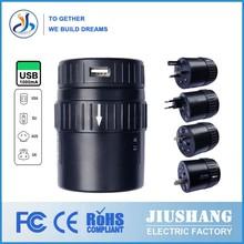 2014 JS-W001(USB) usb port compact universal travel adapter with surge protection universal travel adaptor for swiss