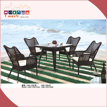 Hot Sale PE Rattan Outdoor Table and Chairs for Garden 1289