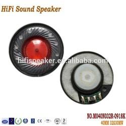 40MM 32OHM 30MW high quality headphone speaker driver for bluetooth headphone speaker