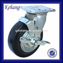 "5""/6""/8"" industrial aluminum wheel,150mm elastic black rubber wheel,cart wheel solid rubber tires"