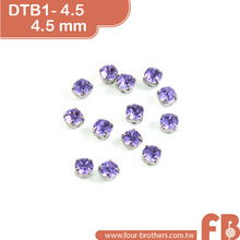 High quality 4.5mm sew on flat back acrylic rhinestones