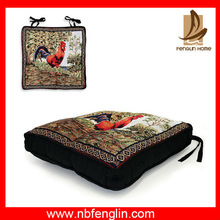 Embroidery cushion cover and popular black chair pad