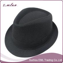 Black design men's fedora hat