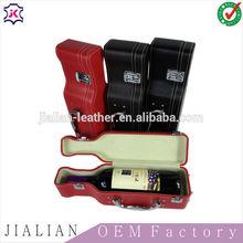 high quality single pu bottle leather wine carrier/ wine bottle holder