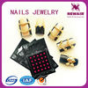 Latest finger nail jewelry of 3d nail stickers for nail suppliers