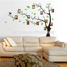 Toptan aile fotoğraf ağacı/aile ağacı duvar sticker/duvar dekor çıkartmaları oturma odası için
