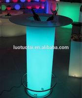 high bar table led bar table
