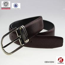 OEM belt factory supply fashion man reversible pin buckle belt