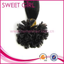 natural color U-tip Brazilian hair