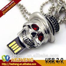Luxury 32GB Skull Jewelry Necklace USB Thumb Drive