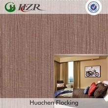 Huchen Flocking polyester taffeta printed glass door curtain fabric china supplier
