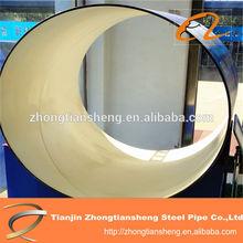 plastic coating steel pipe for coal mine/PE large diameter coating pipes