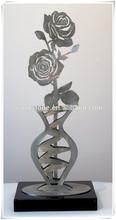 Metal Sculpture Stainless Steel Rose Sculpture