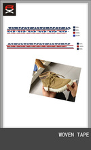 Custom webbing woven tapes for shoes