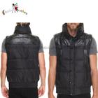fleece winter sleeveless latest design mens trench coat