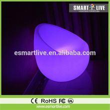 pe led flashing sofa/led armed luminos chair