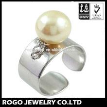 Rogojewel from Guangzhou wholesale fashion band ring fancy pearl ring