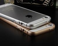 Metal Aluminum Bumper Case for apple iphone 5s bumper cover gold