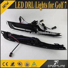 Super White LED Lights daytime running lighting For VW GOLF 7 VII 14-15