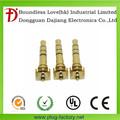 Conector chino ndorado para auricular de teléfono celular de 4 polos, 3 pines y 3.5mm