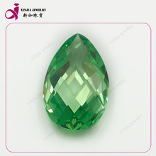 Pear CZ loose cubic zirconia emerald jade stone machine cut rough gemstones