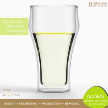 High Quality Custom Elegant Borosilicate Glass Ice-Beer Glass
