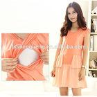 OEM/ODM factory price customized sexy evening pregnant women dresses BK136