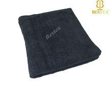 Super soft Bleach proof VAT dyed Cotton Black Terry Towel