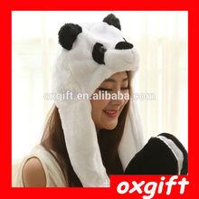 OXGIFT Cartoon plush animal hat,Long section of black and white panda