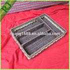 Paper string natural woven handmade rattan knife and fork storage basket