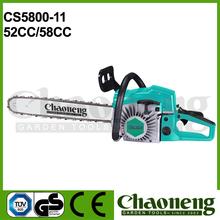Chaoneng garden tools, aluminium chain saw brand, tree cutting saws 5200/5800