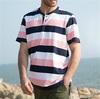 high quality color conbination custom short sleeve polo shirt for men
