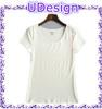 Custom hot sale blank white slim short t shirt for girls
