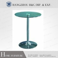 High Round Glass Bar Table wth Barstool HC-T01