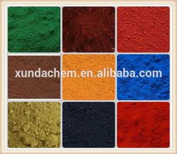 iron oxide red 130 for paving/paver brick/paint/asphalt/concrete mixing/construction material
