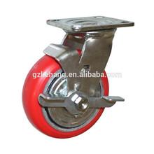 "factory cart industrial wheels,5""/6""/8"" heavy duty pu caster,iron caster wheels"