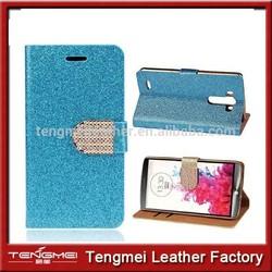 Luxury Diamond Glitter Wallet Leather Phone Case For LG G3,For LG G3 Case