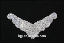 P0149 2015 grossista carnevale abiti da sposa moda taglio patch di cristallo, patch di strass