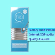 100% pure natural safety cotton swabs in box